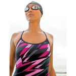 Women's wetsuit and goggles available at Ezi Sports