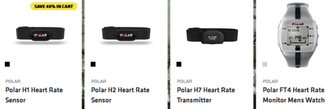 Heart rate monitors available at onsport.com.au
