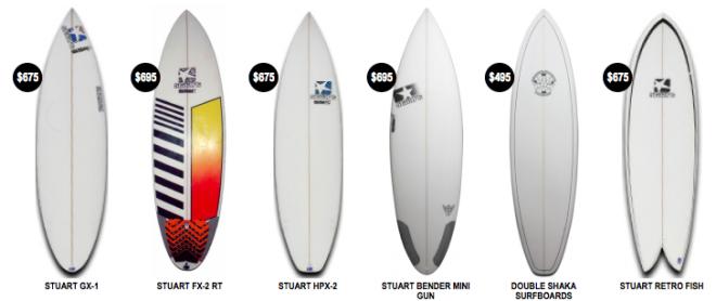 Stuart Benders sticks available at Tradewind Surf