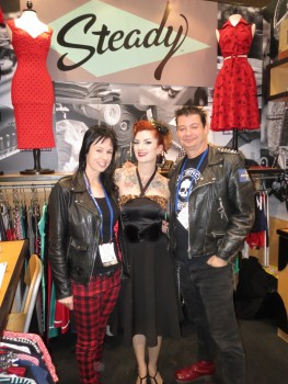 Atomic Cherry founders with Cherry Dollface