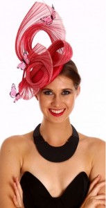 Woman wearing hatinator