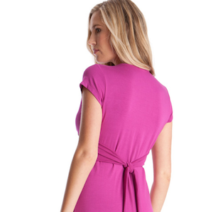 Fuchsia maternity dress available at Queen Bee